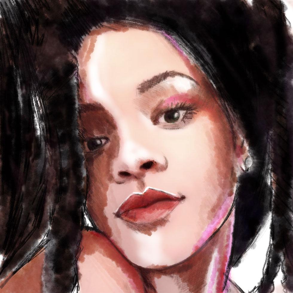 עמוד שדרה מברזל וסטייל בלתי מעורער. כך אני רואה את ריהאנה (איור: ארז עמירן)
