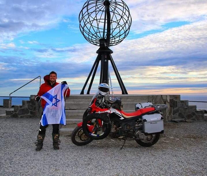 אלחנן אורן בנקודה הצפונית באירופה