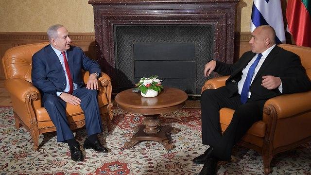 בנימין נתניהו עם בויקו בוריסוב  (צילום: עמוס בן גרשום, לע