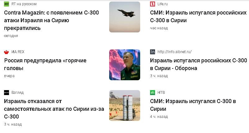 Публикации  российских СМИ