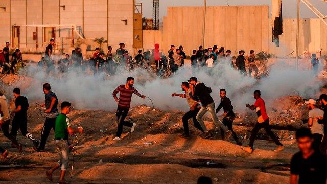 Choques en la frontera de Gaza (Foto: AFP)