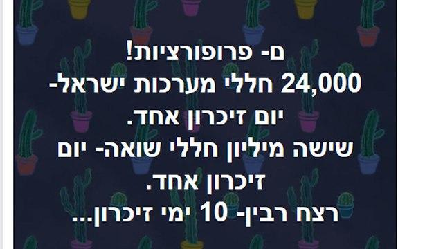 צילום פייסבוק יאיר נתניהו שיתף שיתוף פוסט נרי אבנרי עצרת זיכרון רצח יצחק רבין ()