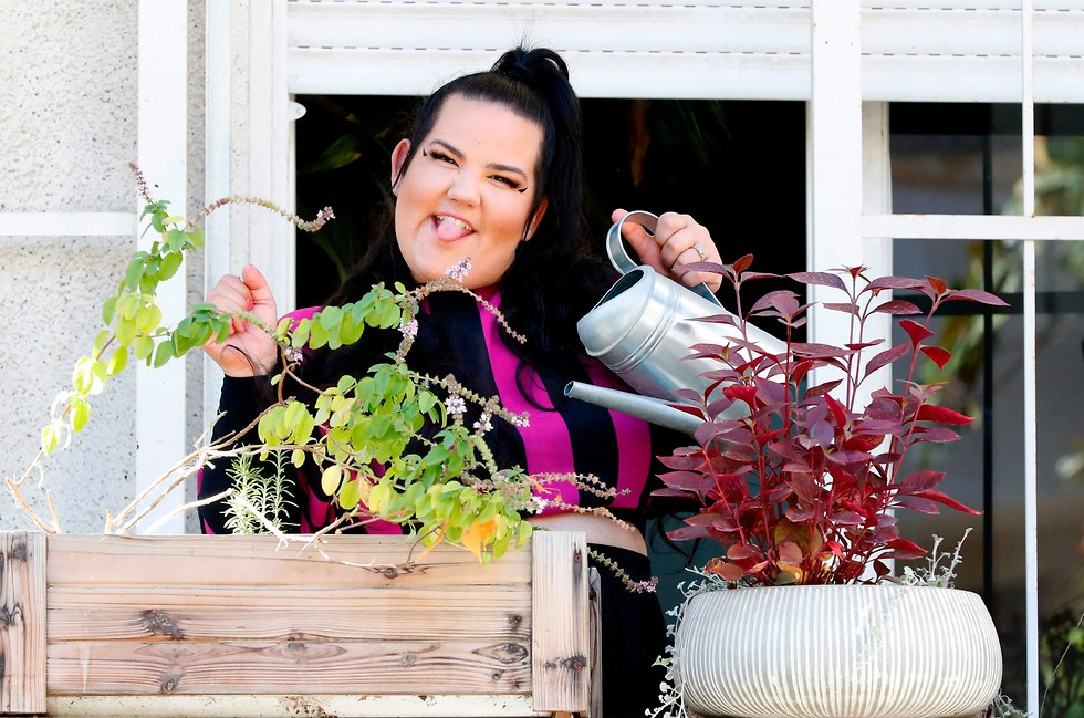 Singer Netta Barzilai in Tel Aviv (Photo: JACK GUEZ)