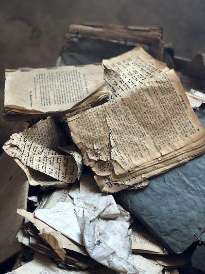 ספרי קדושה בבית הכנסת במדיאש (צילום: אמיר סולומון)
