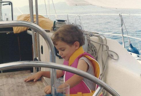 מגיל שנתיים על הסיפון. מתן (צילום: אלבום פרטי)