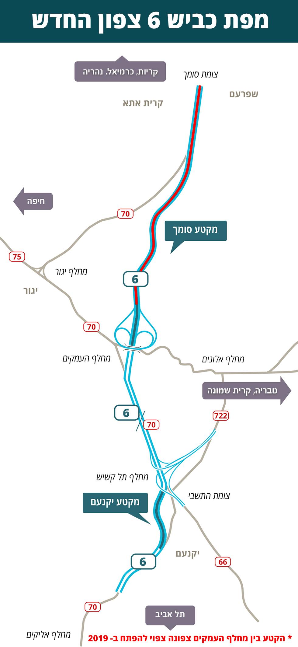 Карта новых дорог на шоссе № 6