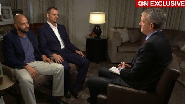 Jamal Khashoggi's sons, Salah and Abdullah, talking to CNN in November 2018  (Photo: Screenshot)