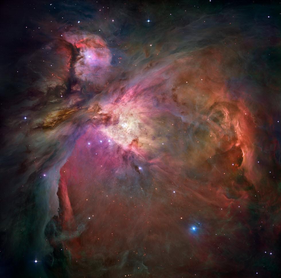 ערפילית אוריון (צילום: טלסקופ החלל האבל)