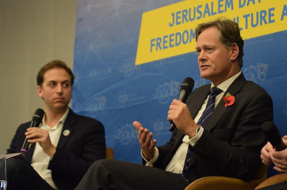 Matthew James Offord, membre du Parlement du Parti conservateur britannique, qui a pris la parole lors de la réunion. (Photo: Yoni Rikner)