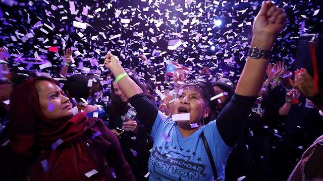 תומכי אלכסנדריה אוקסיו-קורטז (צילום: AFP)