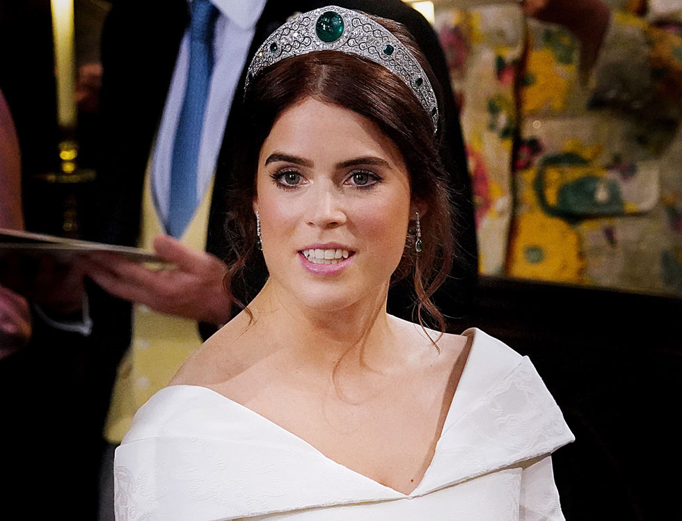 """הנסיכה יוג'יני ביום חתונתה. """" כלה יפה באמת"""", פירגן דונלד טראמפ (צילום: Jonathan Brady/GettyimagesIL)"""
