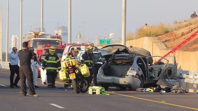 Scene of assasination on Coastal Highway (Photo: Dana Kopel)