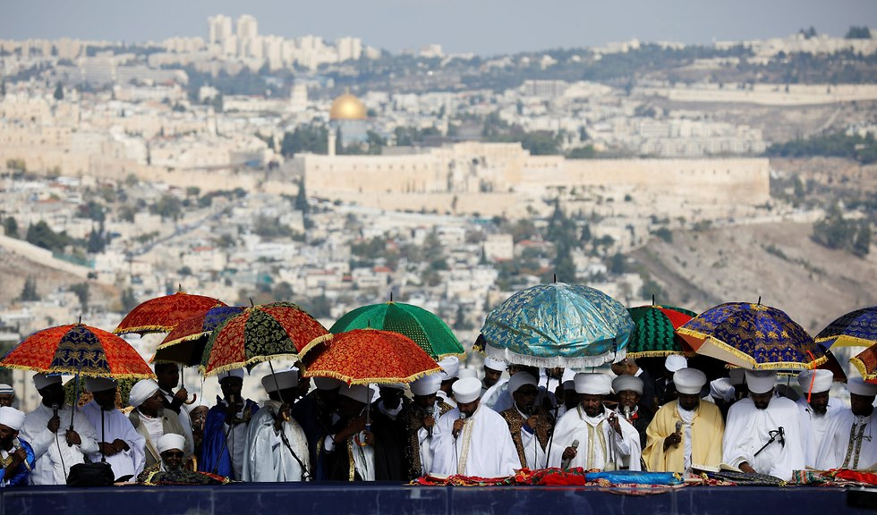 Jewish Ethiopians celebrate Sigd in Jerusalem (Photo: Reuters)