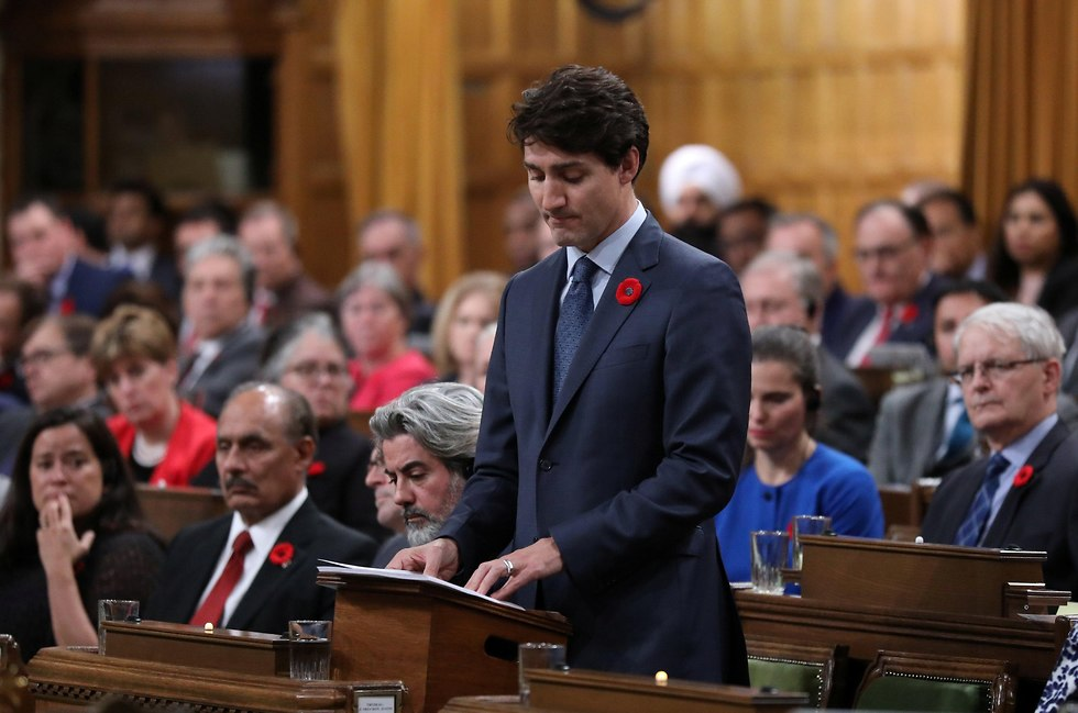 Canadian Prime Minister Trudeau apologizing for turning down the St. Louis (Photo: Reuters)