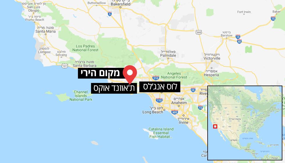 מפה פיגוע המוני ירי קליפורניה ארצות הברית ()