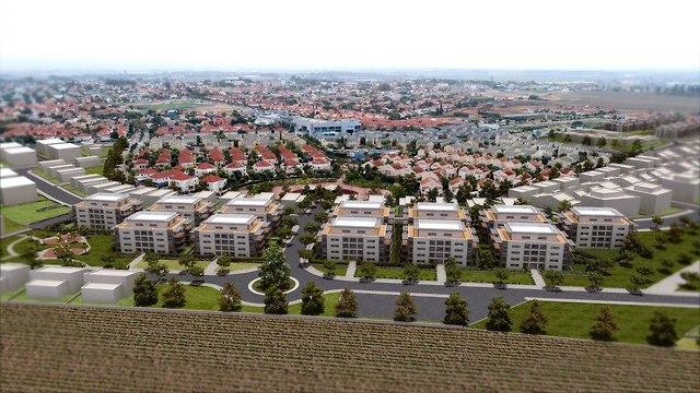 הדמיית תכנית הבנייה גן יבנה (קרדיט: אסף פרץ ודירה להשכיר)