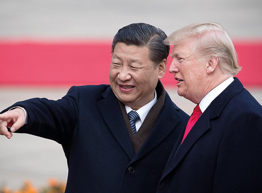 """נשיא ארה""""ב טראמפ ונשיא סין ג'ינפינג"""