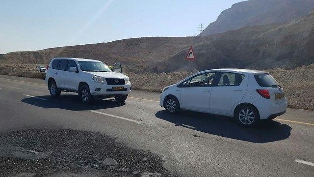 שחזור התאונה בכביש 90 ()