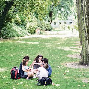 פיקניק בפארק בעיר ליברץ