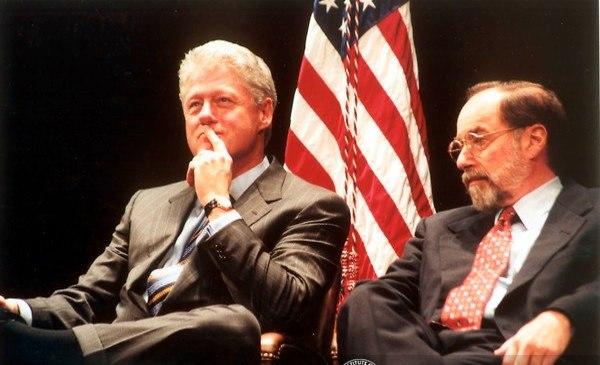 בולטימור עם הנשיא לשעבר ביל קלינטון