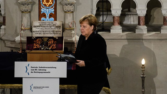 Merkel marks Nazi 'Kristallnacht' against Jews with synagogue speech