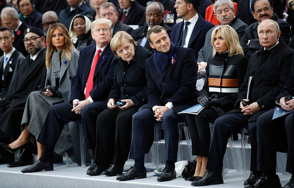 World leaders gather in paris to mark 100 years since the end of World War I (Photo: EPA)
