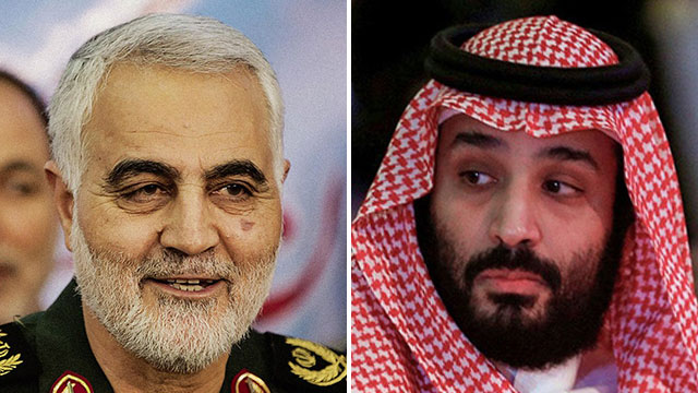 Quds Force Commander Qasem Soleimani; Saudi Crown Prince Mohammed bin Salman  (Photo: AFP, MCT)