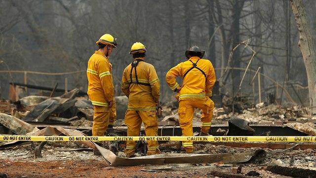 נשקי השריפה בפארדייס (צילום: AP)