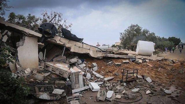 Destruction in Gaza following the IAF bombing