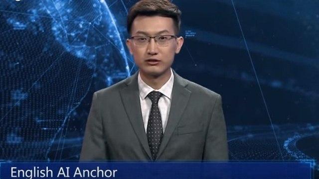 המגיש שהוא בינה מלאכותית (צילום מסך)