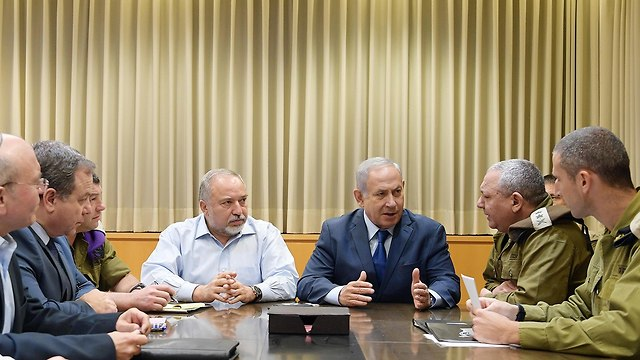 PM Netanyahu consults with security officials (Photo: Gov. Press Office)