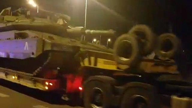 IDF armor making its way to Gaza border (Photo: Barel Efraim)