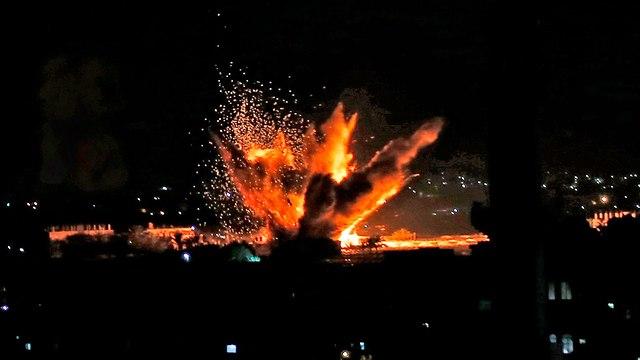 עזה רפיח הפצצות של חיל האוויר (צילום: AFP)