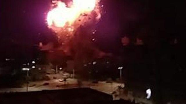 תיעוד השמדת תחנת טלוויזה של חמאס עזה ירי צה