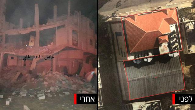 תיעוד השמדה בניין טלוויזיה של חמאס של צה