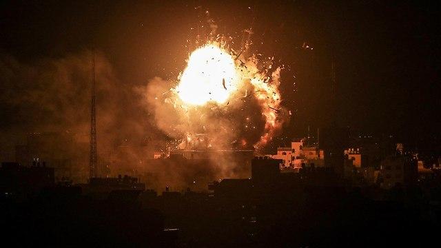 La IAF ataca en Gaza (Foto: EPA)