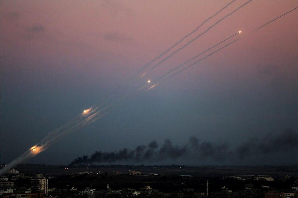 Palestinian terrorists fire rocket barrages from Gaza (Photo: MCT)