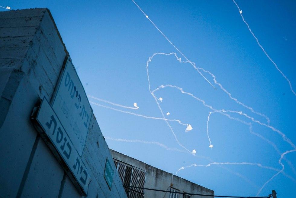 Iron Dome intercepts rockets from Gaza (Photo: MCT)