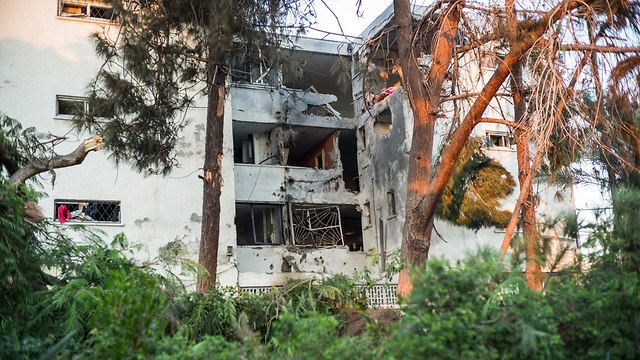 Разрушенный ракетой ХАМАСа дом в Ашкелоне. Фото: МСТ