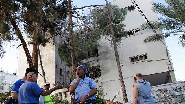 Пострадавшее здание. Фото: AFP