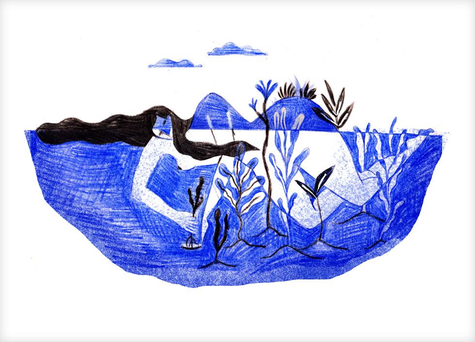 סדרת דימויים מינימליסטיים בטכניקות הדפס מסורתיות, המבקשים להרחיב את השיח על תפישות גוף ותפקיד הייצוג הנשי. ונדר x חביבה סליגסון  (איור: חביבה סליגסון)