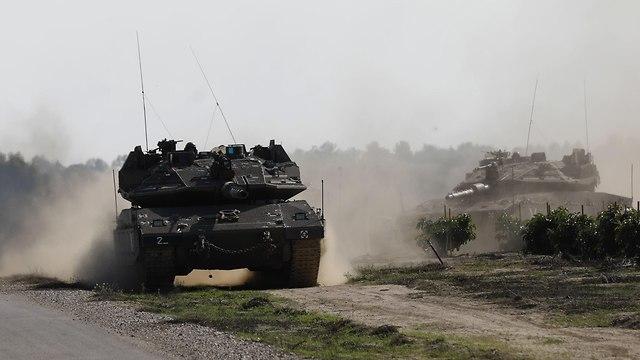 טנק טנקים הסלמה דרום עוטף עזה צה