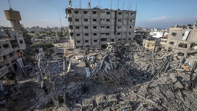 חורבן הרס עזה ירי חיל אוויר צה