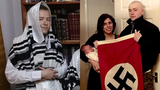 Адам Томас в бытность израильтянином по имени Ави Бен-Авраам (слева) и сегодня
