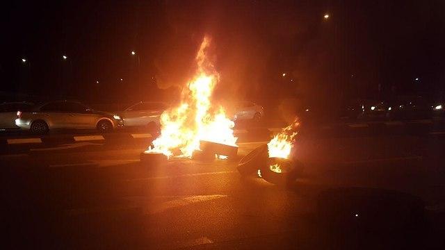 הפגנה תושבי עוטף עזה נגד הפסקת אש עם חמאס ()