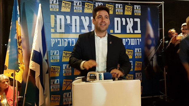 עופר ברקוביץ, מועמד בבחירות המקומיות לראשות עיריית ירושלים (צילום: יואב דודקביץ')