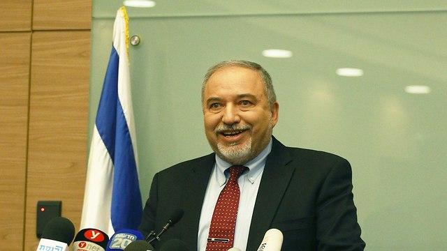 Avigdor Lieberman resigns defense minister post (Photo: Ohad Zwigenberg)