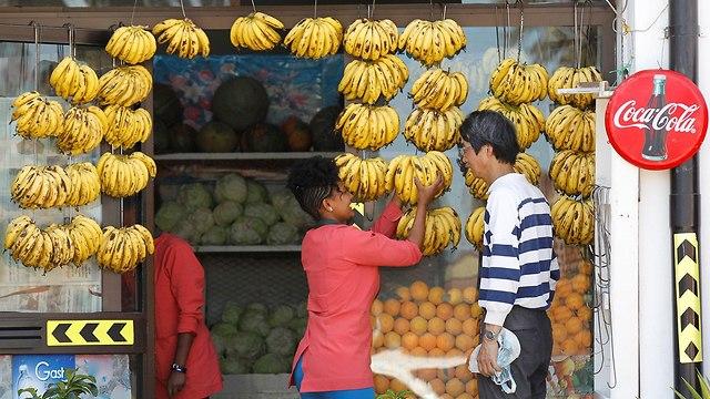 חנות ירקות ופירות ב אסמרה בירת אריתריאה הסרת סנקציות של מועצת הביטחון האו