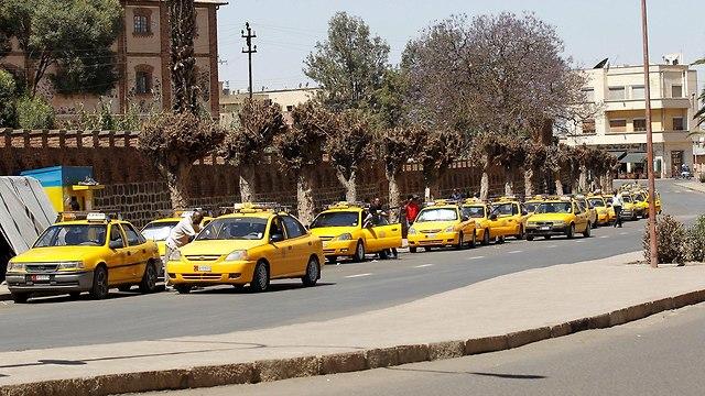 מוניות ב אסמרה בירת אריתריאה הסרת סנקציות של מועצת הביטחון האו
