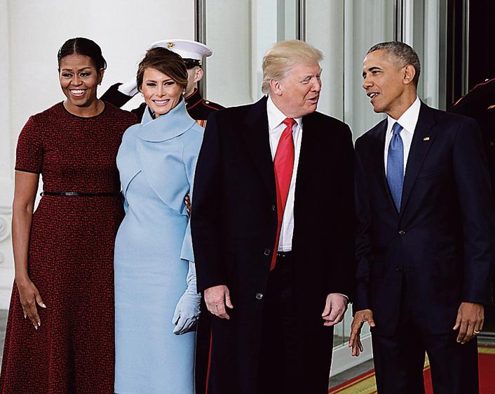 היום האחרון בבית הלבן, עם בני הזוג טראמפ